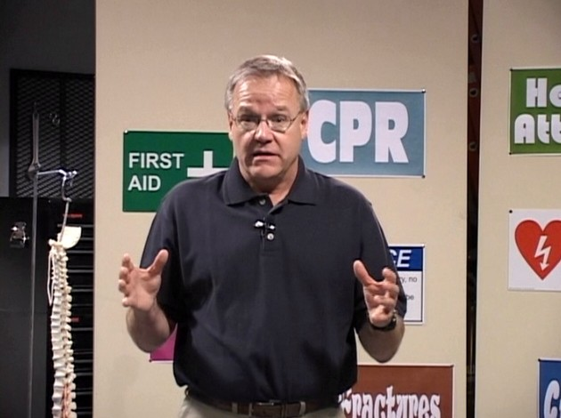 EMT Martin Lesperance discussing first aid techniques that should be ...